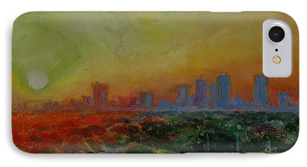 IPhone Case featuring the painting Tampa Sunrise by Thomas Bertram POOLE