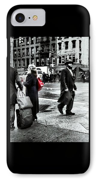 Tangents - A Walk In The City Phone Case by Miriam Danar