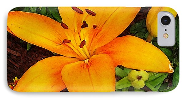 IPhone Case featuring the photograph Tangerine Asiatic Lily by Shawna Rowe