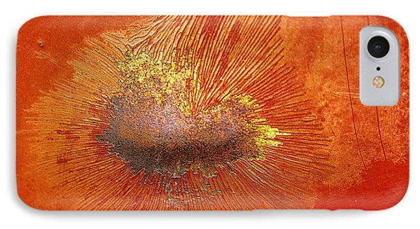 Tangerine Burst IPhone Case by Leanna Lomanski