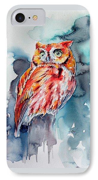 Tangerine Owl  IPhone Case by Kovacs Anna Brigitta