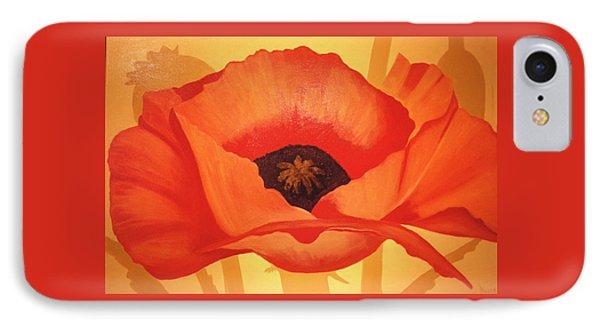 Tangerine Poppy Phone Case by Linda Hiller