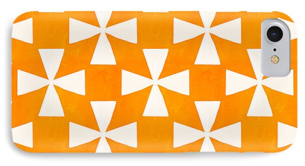 Tangerine Twirl IPhone Case by Linda Woods