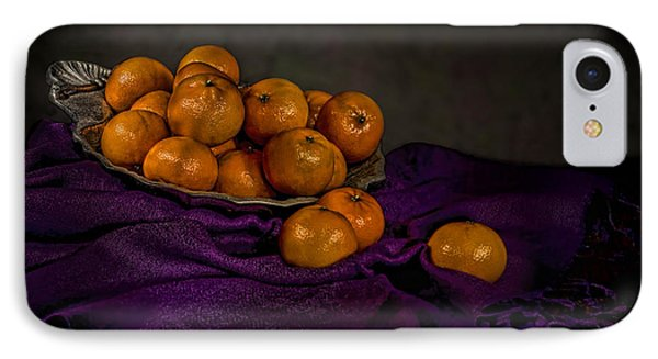 Tangerines In A Shell Platter Phone Case by Leah McDaniel