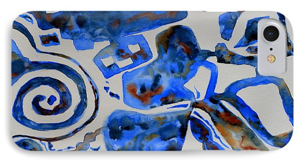 Tangled Up In Blue Phone Case by Beverley Harper Tinsley