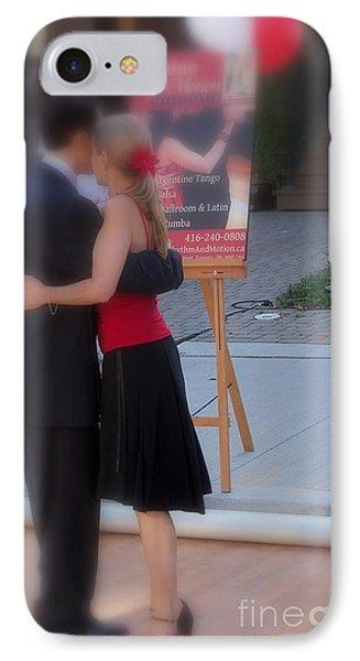 Tango Dancing On The Street Phone Case by Lingfai Leung