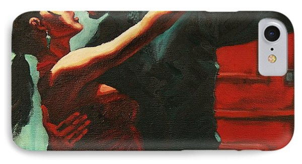IPhone Case featuring the painting Tango Intensity by Janet McDonald