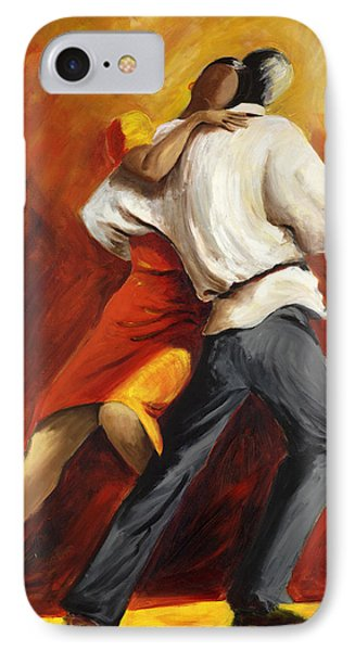IPhone Case featuring the painting Tango by Sheri  Chakamian