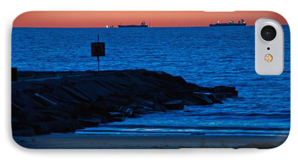 Tanker Sunrise IPhone Case by John Collins