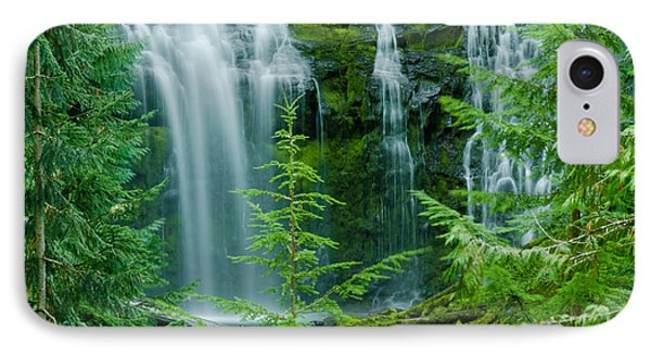 Pacific Northwest Waterfall IPhone Case by Nick  Boren
