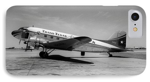 Tans-texas Air Douglas Dc-3 IPhone Case by Wernher Krutein
