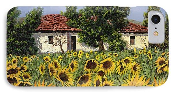 Sunflower iPhone 7 Case - Tanti Girasoli Davanti by Guido Borelli