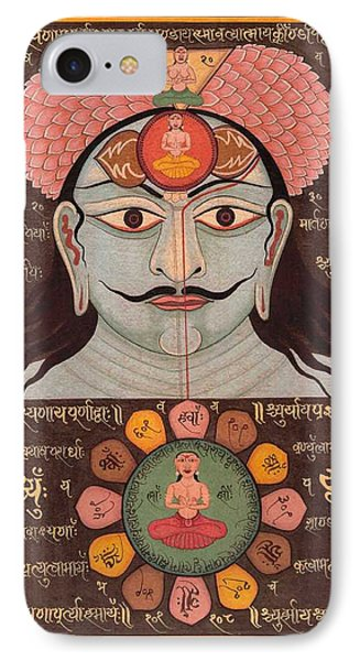 Tantra Yantra Miniature Painting Indai Wall Decor Veda Vedic Artwork  IPhone Case by A K Mundhra