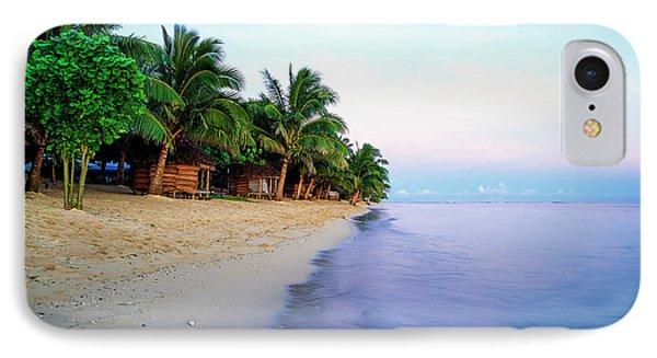 Tanu S Beach Fales  Savaii Island, Samoa IPhone Case by David Kirkland