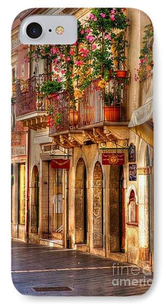 Taormina Balcony Phone Case by Michael Berry