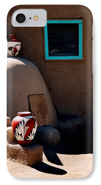 IPhone Case featuring the photograph Taos New Mexico Pottery by Jacqueline M Lewis