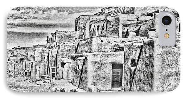 Taos Pueblo Abstract IPhone Case