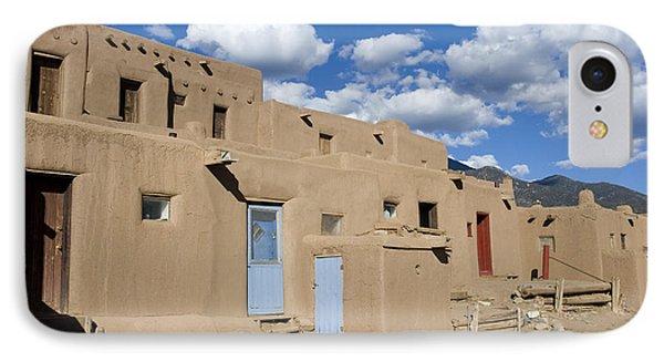 Taos Pueblo IPhone Case by Elvira Butler