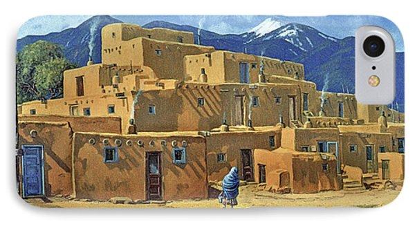 Taos Pueblo Phone Case by Randy Follis