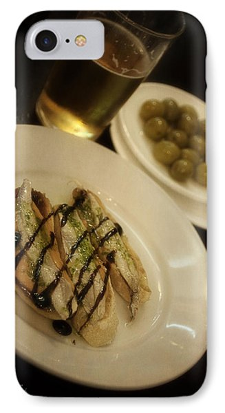 Tapas In Seville Phone Case by Mary Machare