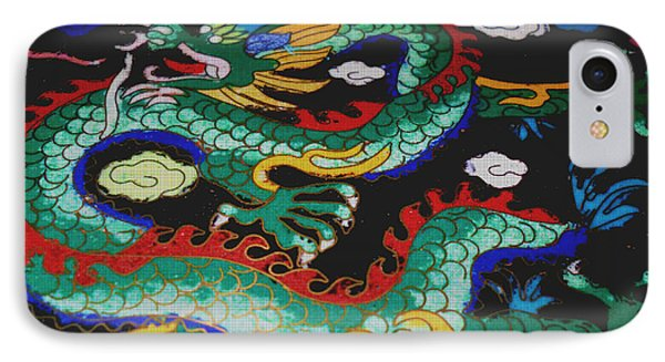 Tapestry Green Dragon IPhone Case by J Andrel
