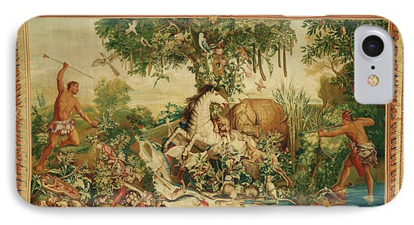 Tapestry Le Cheval Rayé From Les Anciennes Indes Series IPhone Case by Litz Collection