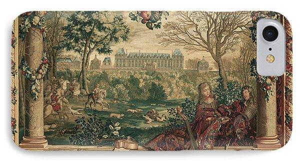 Tapestry Le Mois De Décembre, Le Château De Monceaux IPhone Case by Litz Collection