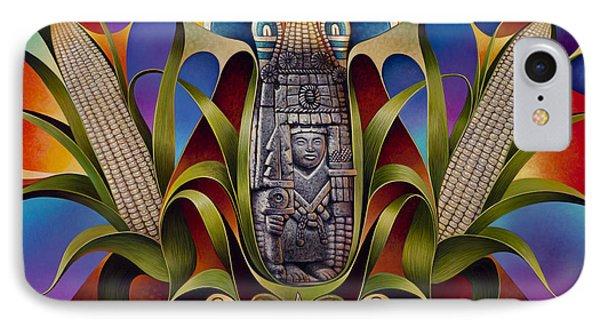 Tapestry Of Gods - Chicomecoatl Phone Case by Ricardo Chavez-Mendez