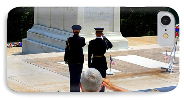 Taps At The Tomb Of The Unknown Phone Case by Patti Whitten
