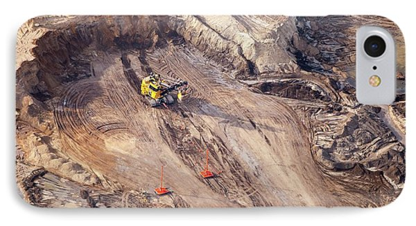 Tar Sands Deposits Being Mined IPhone Case by Ashley Cooper