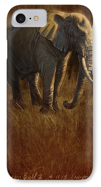 Tarangire Bull 2 IPhone Case by Aaron Blaise