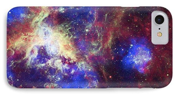 Tarantula Nebula IPhone Case by X-ray: Nasa/cxc/psu/l.townsley Et Al.; Optical: Nasa/stsci; Infrared: Nasa/jpl/psu/l.townsley Et Al.