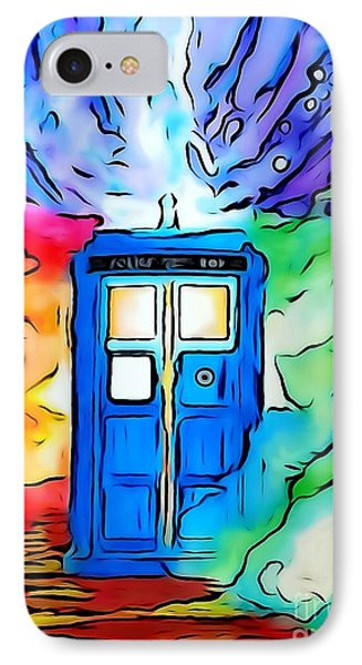 Tardis Illustration Edition IPhone Case by Justin Moore