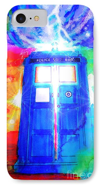 Tardis IPhone Case by Justin Moore