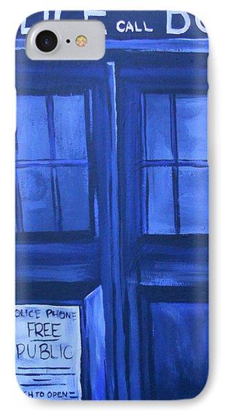 Tardis Phone Case by Lisa Leeman