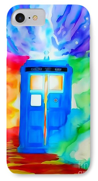 Tardis Watercolor Edition IPhone Case by Justin Moore