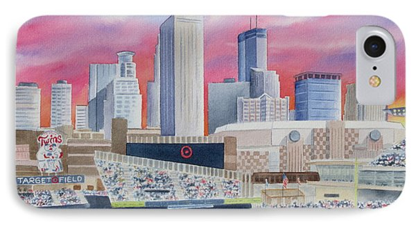 Target Field IPhone Case by Deborah Ronglien