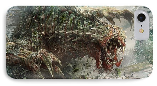 The iPhone 7 Case - Tarmogoyf Reprint by Ryan Barger