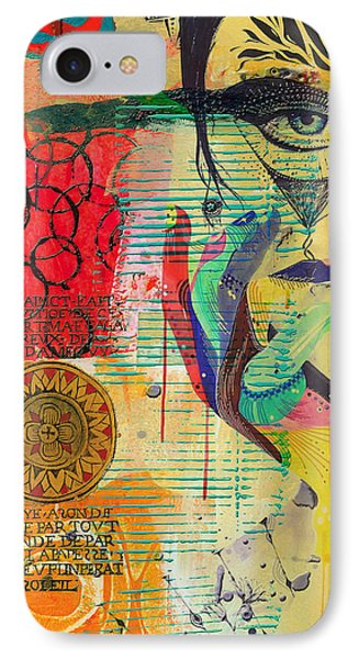 Tarot Card Abstract 007 IPhone Case by Corporate Art Task Force