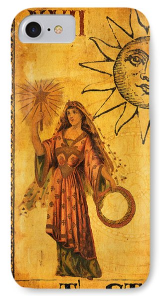 Tarot Card The Star IPhone Case by Cinema Photography