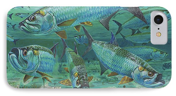 Tarpon Rolling In0025 Phone Case by Carey Chen