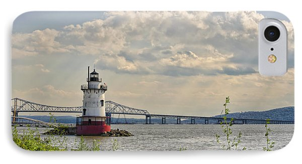 Tarrytown Lighthouse And Tappan Zee Bridge Sleepy Hollow Ny IPhone Case by Marianne Campolongo
