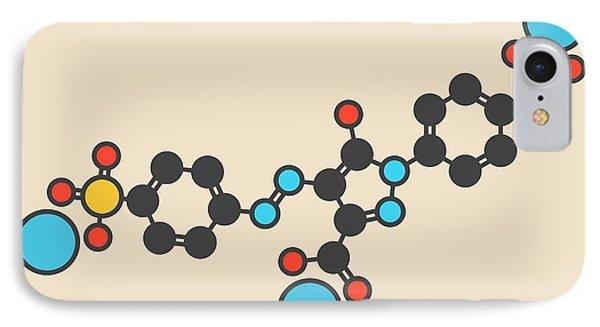 Tartrazine Food Dye Molecule IPhone Case by Molekuul