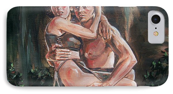 IPhone Case featuring the painting Tarzan And His Mate by Bryan Bustard