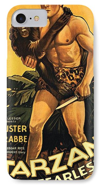 Tarzan The Fearless  IPhone Case by Movie Poster Prints