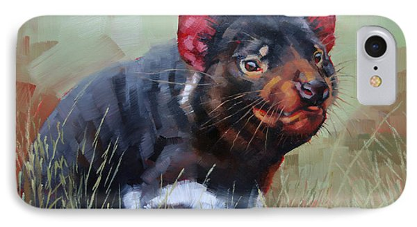 Tasmanian Devil IPhone Case by Margaret Stockdale