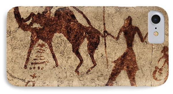 Tassili Najjer Rock Painting Algeria Phone Case by George Holton