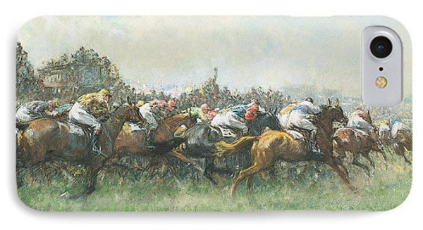 Tattenham Corner The Epsom Derby IPhone Case