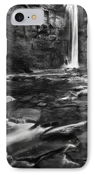 Taughannock Black And White IPhone Case by Bill Wakeley