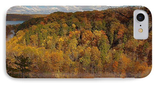 IPhone Case featuring the photograph Taughannock River Canyon In Colorful Fall Ithaca New York II by Paul Ge